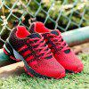 Athletic Shock Design Sport Shoes Lightweight Breathable Air Mesh Sneakers - GRAY