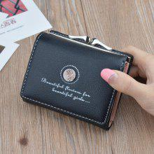 Gearbest price history to Retro Flower Short Paragraph Purse Female Student Three Folding Wallet