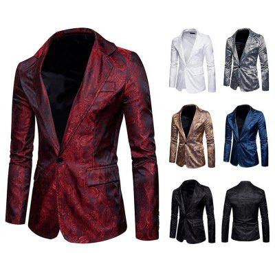 Men Classic Suit Blazers Jacket