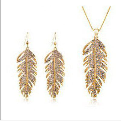 Leaf Feather Creative Alloy Jewelry Set