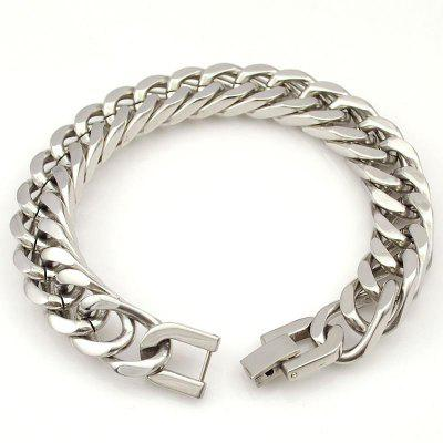 Stainless Steel Bracelet Bangle Silver Strip Jewelry