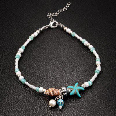 Starfish Shell Beach Beaches Anklets Sandals Beads Bracelet Accessories