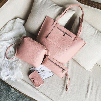Four Bags Mother Bag Hand Bag Lychee Grain Single Shoulder Bag
