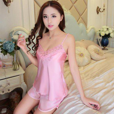 Lace Pyjama Pijama Set Home Clothing Sleepwear Pajama Nightwear Sexy Lingerie Nightgowns Robe