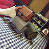 Bag Leather Lock Small Square Bag Chain Shoulder Shoulder Bag. - GREEN