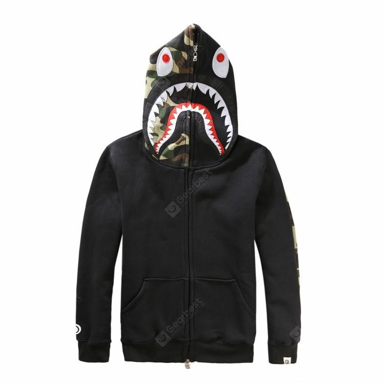 35a800892e27 Latest New Bape Bathing Ape Jacket Shark Head Camo Full Zip ...