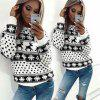 Women Casual Long Sleeve Hoodie Sweatshirt Blouse Tops Hooded T-shirt Pullover Christmas Winter - RED