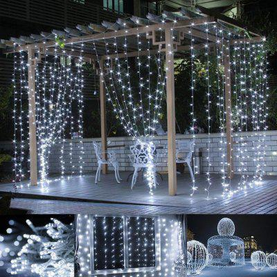 LED Curtain Light 3*3 Meter 304 Light Christmas Ice Strip Decoration Light Lantern String LED Five-pointed Star Curtain Light