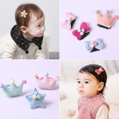 Children's Hair Accessories Crown Star Shape Head Rope Girl Tiara Hair Rope Baby Mini Hair Ring