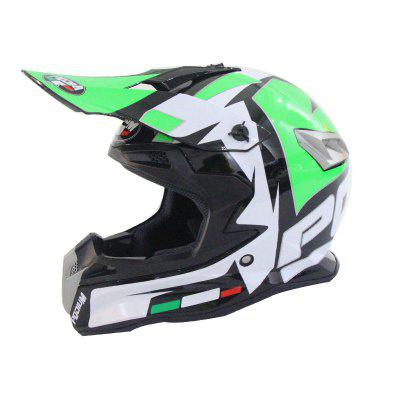 Four Seasons Motorcycle Red Cattle Off-road Helmet Men And Women Mountain Bike Full-face Dh Downhill Rushing Cross-country
