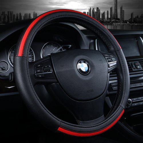 Car Steering Wheel Cover Microfiber Steering Wheel Cover Car Gloves Four Seasons Universal 15 Inch // 38 cm Universal,Black