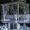 LED Curtain Light 3*3 Meter 304 Light Christmas Ice Strip Decoration Light Lantern String LED Five-pointed Star Curtain Light - EUROPEAN STANDARD WHITE 6*3 METERS