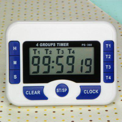 Four-channel Timer Countdown Timer Three-channel Multi-channel Alarm Multi-group Reminder