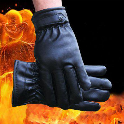Autumn And Winter New Men's Cycling Gloves Outdoor Riding Motorcycle Anti-skid Windproof Cotton Gloves Labor Insurance