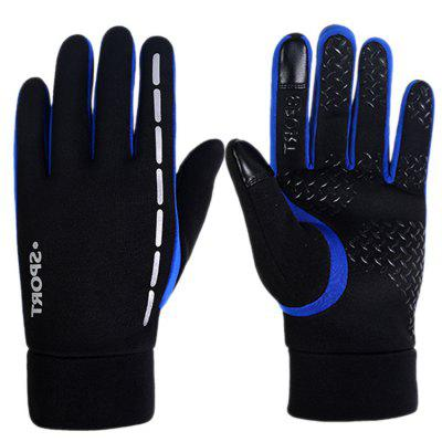 Touch Screen Hand Outdoor Gloves Plus Velvet Male Winter Running Windproof Sports Riding All Refers To Winter Mountaineering Bike Women Keep Warm