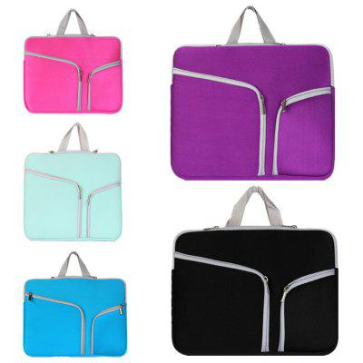 Wo Weinuo Notebook Liner Bag Double Pocket Zipper Bag 11 Inch 13 Inch 15 Inch Inner Handle Computer Bag for Laptop