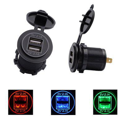Car And Motorcycle RV Marine 4.2A Dual USB Car Mobile Phone Charger Car Charger Modified Accessories Double Aperture