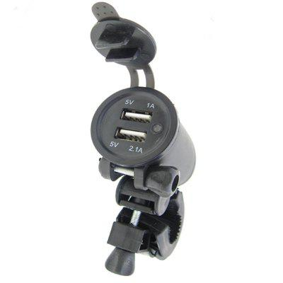 Motorcycle Faucet Super Mini Car Charger Motorcycle Charger Double Usb Charger With Bracket