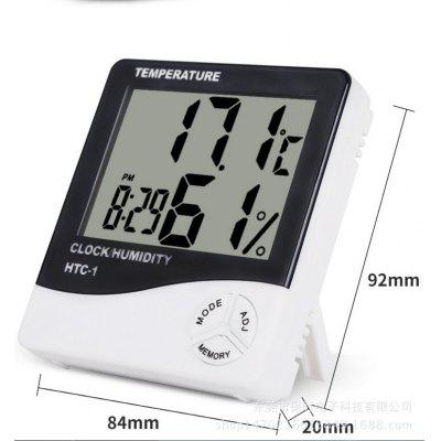 HTC-1 Large Screen Home Thermometer and Hygrometer High Precision Electronic Thermometer Belt