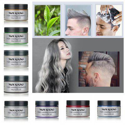 Grandma Gray Hair Color Hair Wax Eight Color Disposable Hair Cream Explosion Hairdressing Supplies