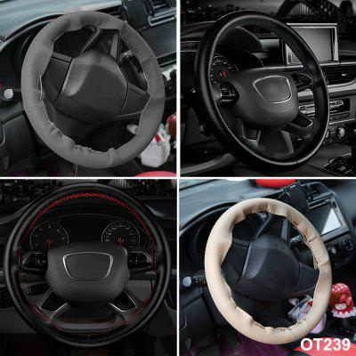 Car Modification DIY Four Seasons Universal Hand-sewn Leather Steering Wheel Cover One With Needle Thread
