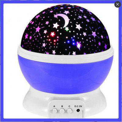 Rotating Projection Starlight Night Light LED Lamp