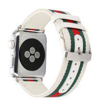 Casual Leather Strap Woven Leather Strap For Apple Watch 38/42mm