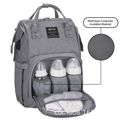 def858b954c Mummy Bag Multi-function Large Capacity Mother Bag Mother And Baby Bag  Bottle Portable Backpack