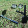 Car Portable Small Engineer Shovel Fishing Multi-purpose Tool Shovel Outdoor Camping Multi-purpose Folding Garden Shovel - BLACK
