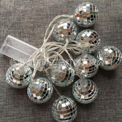 2017 Matrimonio Natale LED String Mirror Ball Lights 10LED Batteria String Lights Bar Disco Ball