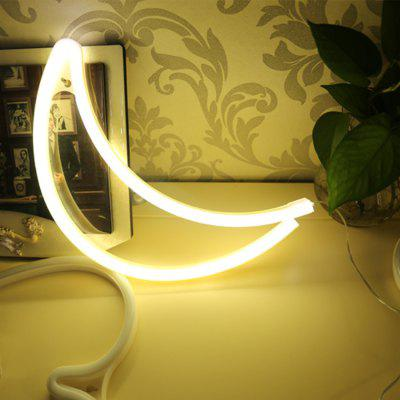 Led Moon Night Light Neon Bedroom Decoration Table Lamp