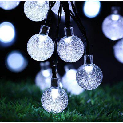 30 LED Bubble Ball Outdoor Wodoodporny Solar Light Lights String Ball Lights Christmas Garden Lights