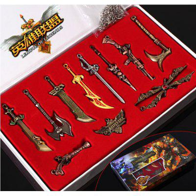 League Of Legends Weapons Weapons Model Set Promise Swordsman And A LOL11 Weapon Set Knife Buckle