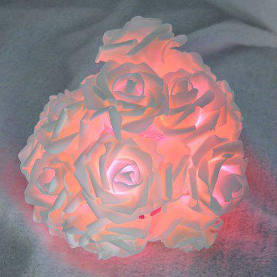20 LED simulace Rose Flower String Lights