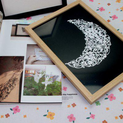 Solid Wood Photo Frame Black Wood Color 32 x 23cm Set Up Picture Frame A4 Photo Frame 14 Inch Photo Studio Picture Frame