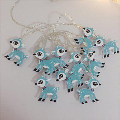 Christmas Lights String Led Battery Box Light String Painted Sika Deer Holiday Lights String