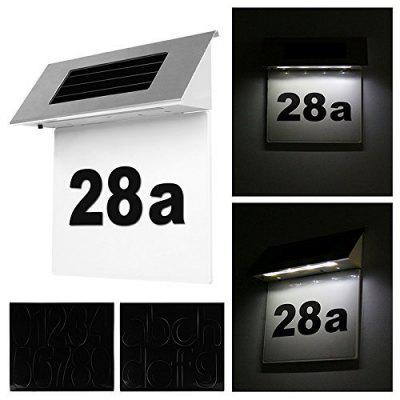 Hot Sale Solar Stainless Steel House Number Lamp