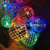2017 Matrimonio Natale LED String Mirror Ball Lights 10LED Batteria String Lights Bar Disco Ball - BIANCO CALDO