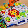 Toolbox Electric Drill Toy Disassembly Assembling Combination Building Blocks Children Hands-on Disassembly Screw Puzzle - 151PS PLANE ELECTRIC