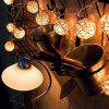 20 Heads Rattan Ball Shape Christmas LED Decorative Lights String - EUROPEAN STANDARD 220V