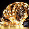 20M LED Solar Copper Wire Light String For Decoration - WARM WHITE