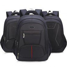 Large Capacity Men And Women Backpack High School Student Bag Business Computer  Bag Black Leisure Travel 1e6793e505