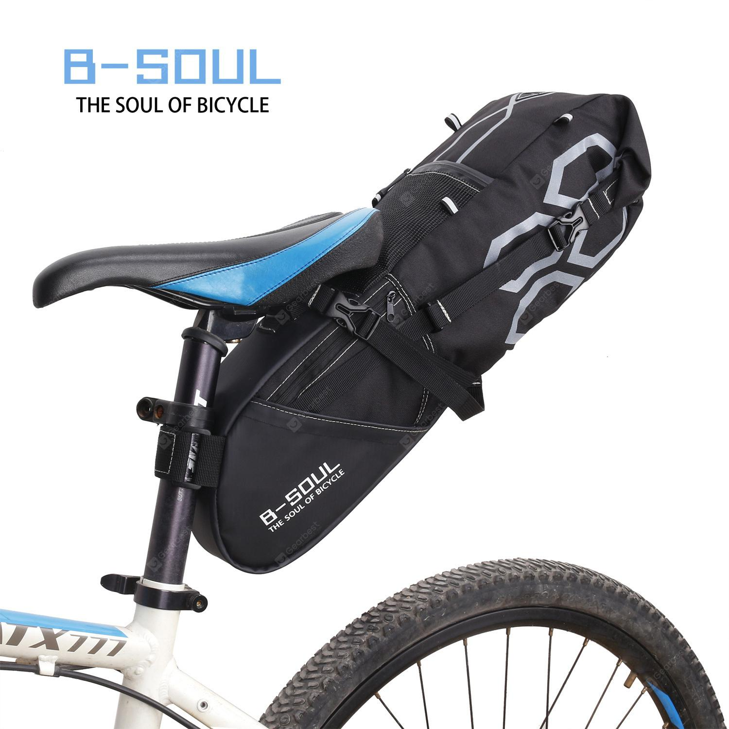 B-SOUL Bicycle Reflective Saddle Rear Bag Bike Seatpost Seat Tail Rainproof Bag
