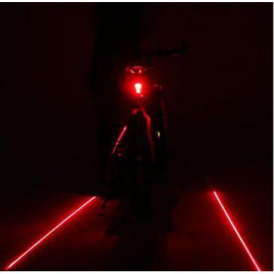 Cycling Bicycle Laser Taillights 5 LED Parallel Line Laser Taillights Mountain Bike Safety Warning Lights