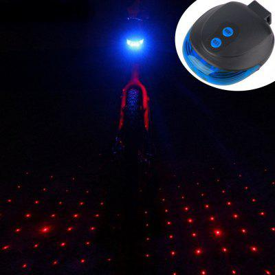 Bicycle Mountain Bike Dead Speed Bike Bicycle Laser Taillight Starry Taillight Safety Warning Light Equipment Accessories