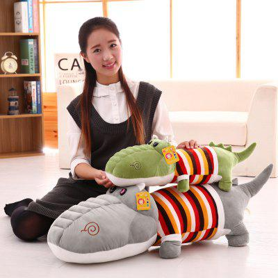 Sweter 趴 Crocodile Pillow Striped Crocodile Doll Doll