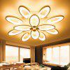 LED Ceiling Lamp Warm Bedroom Creative Personality Acrylic Modern Minimalist Flower-shaped Atmosphere Living Room Lamp - 9 HEADS / 100W / 72CM