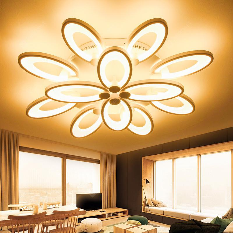 Have An Inquiring Mind Led Ceiling Light Modern Lamp Panel Living Room Round Lighting Fixture Bedroom Kitchen Hall Surface Mount Flush Remote Control Ceiling Lights