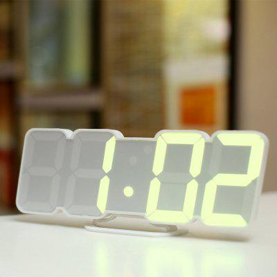 Full Color 3D LED Digital Clock Remote Control Temperature Alarm Sound Control Variable 115 Colors Wall Stereo Wall Clock