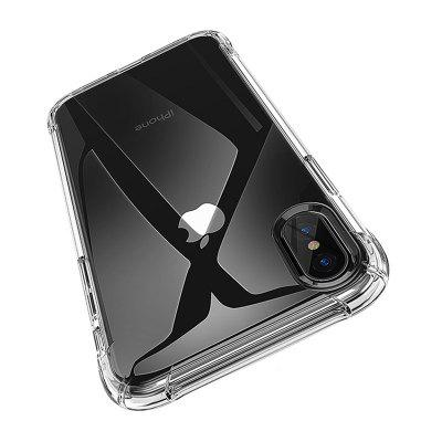 Mobile Phone Shell Transparent TPU Drop Protection Soft Shell Anti-fall Xr Silicone Sleeve for iPhone XS Max